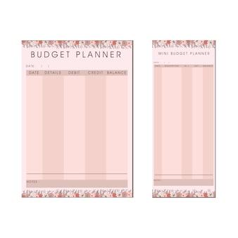 Sjabloon voor budgetplanner