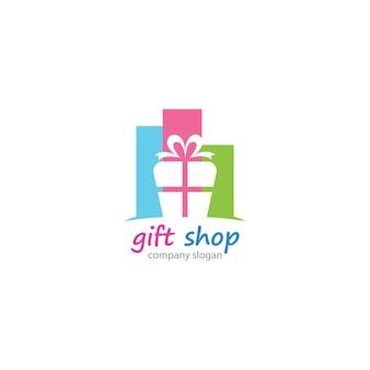 Sjabloon voor cadeauwinkel-logo