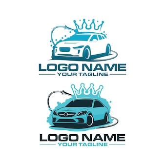 Sjabloon voor car king wash-logo