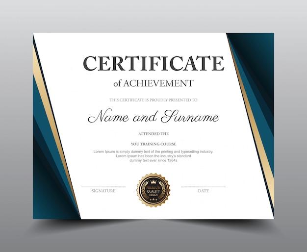 Sjabloon voor certificaatindeling.