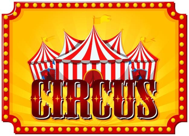 Sjabloon voor circus, kermis, pretparkthema