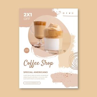 Sjabloon voor coffeeshopposters