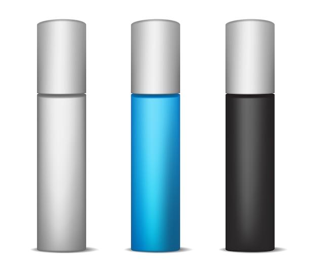 Sjabloon voor cosmetische lange flessen. illustratie.