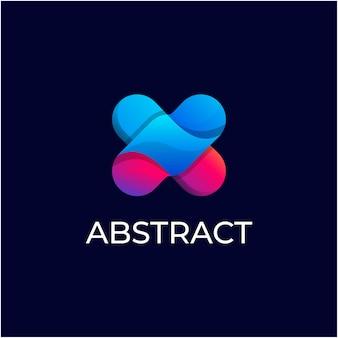 Sjabloon voor creatief abstract verlooplogo