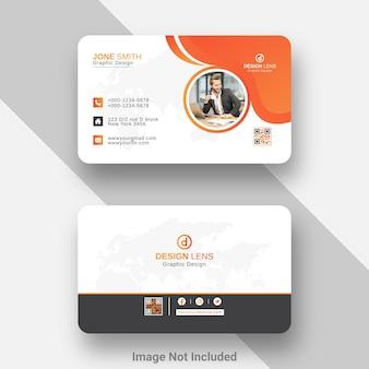 Sjabloon voor creatief digitaal visitekaartje