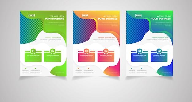 Sjabloon voor creatief folder