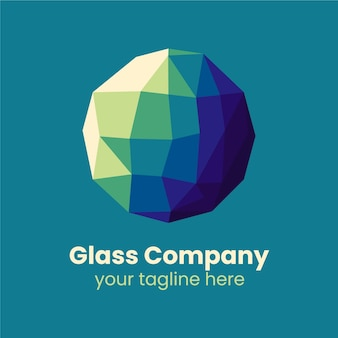Sjabloon voor creatief glaslogo