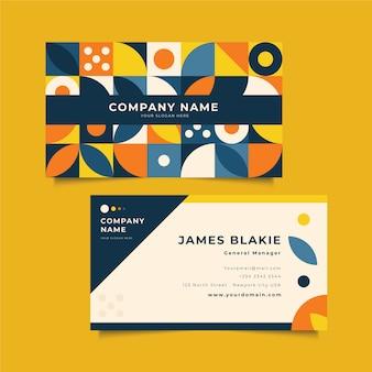 Sjabloon voor creatief visitekaartjes