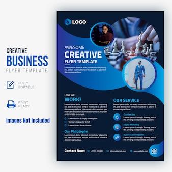 Sjabloon voor creatief zaken folder