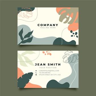 Sjabloon voor creatieve botanische visitekaartjes