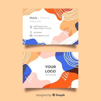 Sjabloon voor creatieve handgeschilderde visitekaartje