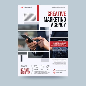 Sjabloon voor creatieve marketingbureau business flyer