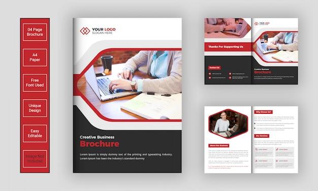 Sjabloon voor creatieve zakelijke brochure