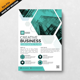 Sjabloon voor creatieve zakelijke corporate flyer