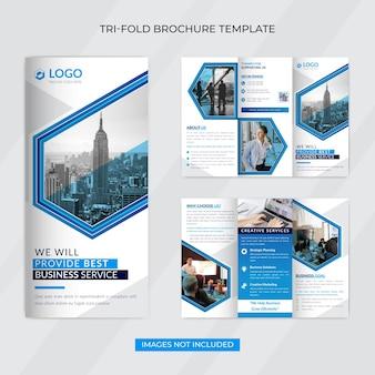 Sjabloon voor creatieve zakelijke driebladige brochure