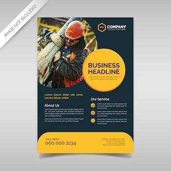 Sjabloon voor creatieve zakelijke flyer