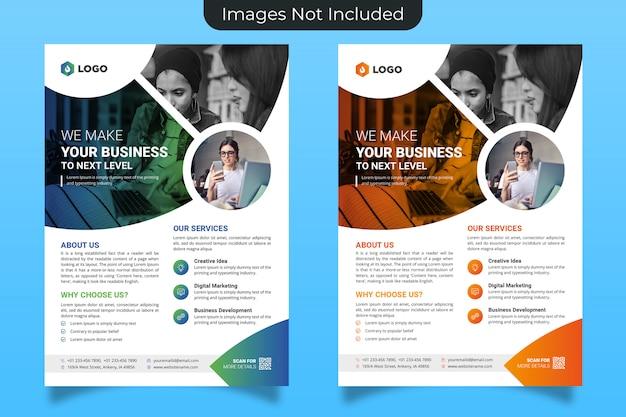 Sjabloon voor creatieve zakelijke folders