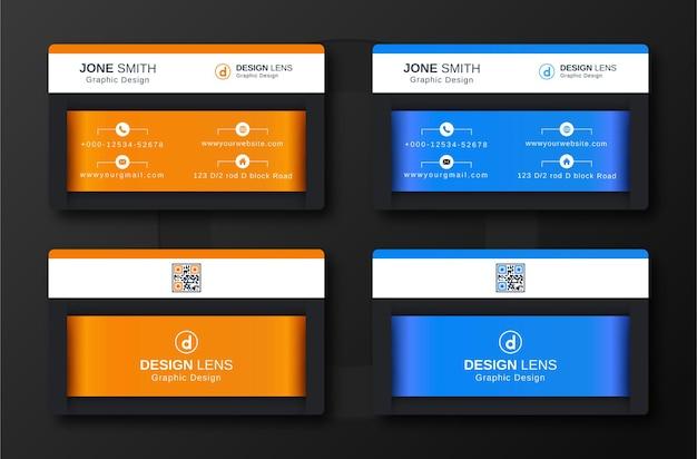 Sjabloon voor creatieve zakelijke luxe visitekaartjes