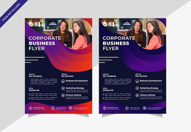 Sjabloon voor creatieve zakelijke zakelijke flyers