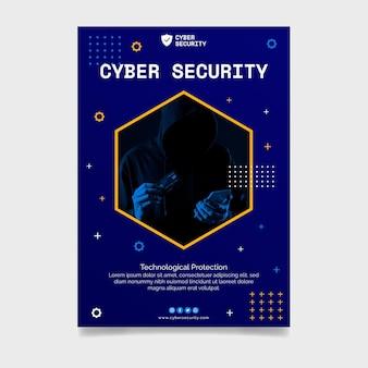 Sjabloon voor cyberbeveiliging-flyer
