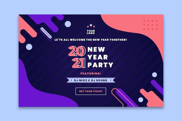 Sjabloon voor de bestemmingspagina van het nieuwe jaar 2021