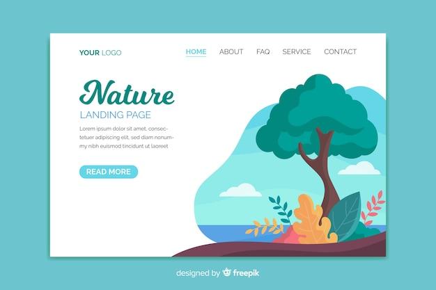Sjabloon voor de landing-pagina van de natuur