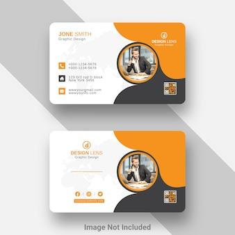 Sjabloon voor digitaal zakelijk visitekaartje