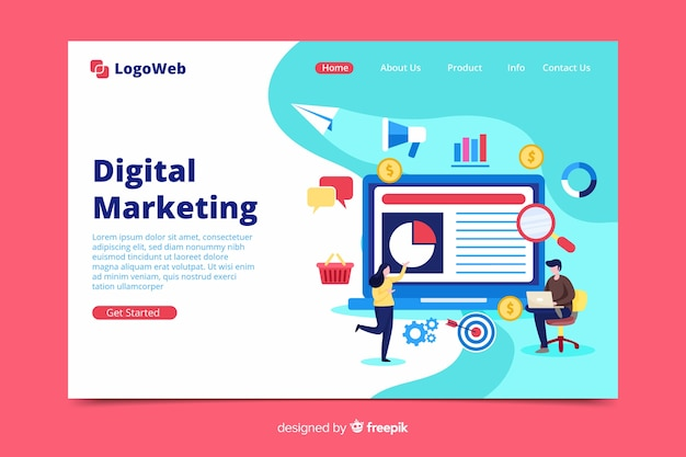 Sjabloon voor digitale marketing bestemmingspagina