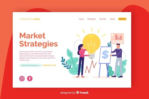 Sjabloon voor digitale marketing bestemmingspagina