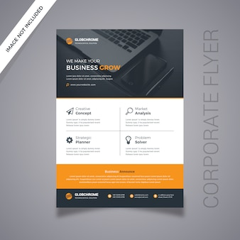Sjabloon voor digitale marketing business flyer
