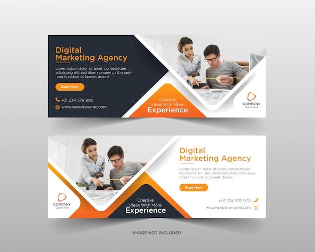 Sjabloon voor digitale marketingbureau sociale media-sjabloon