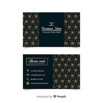 Sjabloon voor donkere elegante visitekaartjes