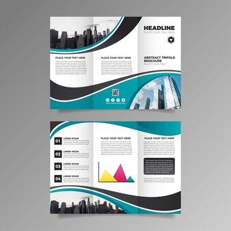 Sjabloon voor driebladige brochure concept