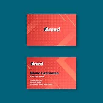 Sjabloon voor dubbelzijdige horizontale visitekaartjes voor elektricien