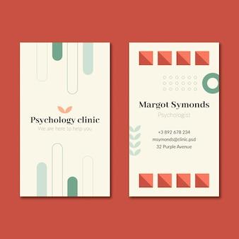 Sjabloon voor dubbelzijdige visitekaartjes psychologie