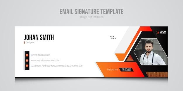 Sjabloon voor e-mailhandtekening van bedrijfsbureau
