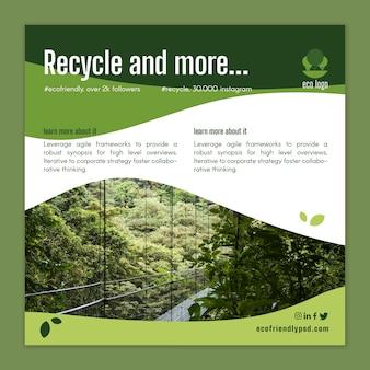Sjabloon voor ecologie-flyer