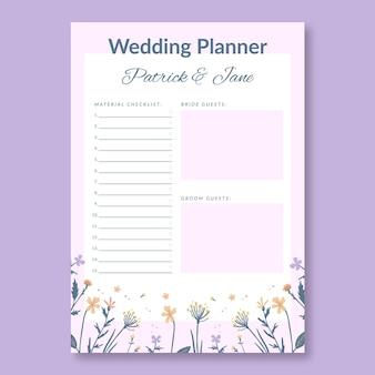 Sjabloon voor eenvoudig bruiloftsplanner voor evenementen