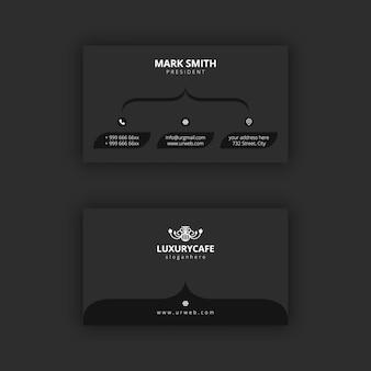 Sjabloon voor eenvoudig en donker zwart-wit visitekaartjes