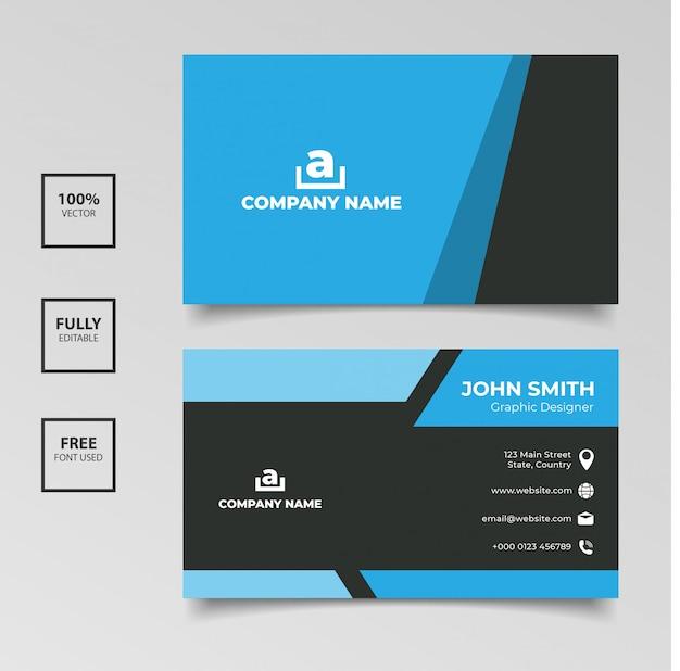 Sjabloon voor eenvoudig ontwerp-visitekaartjes