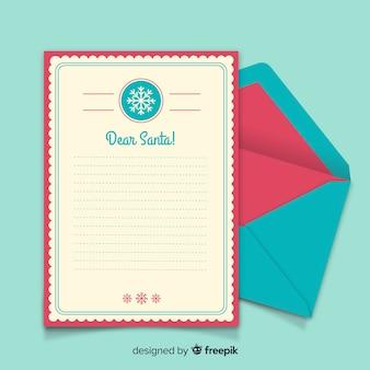 Sjabloon voor eenvoudige brief van de kerstman