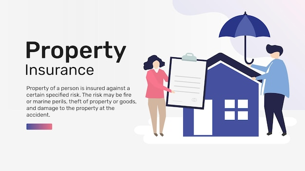 Sjabloon voor eigendomsverzekering voor presentatie