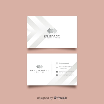 Sjabloon voor elegant visitekaartje