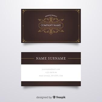Sjabloon voor elegante luxe visitekaartjes
