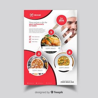 Sjabloon voor elegante restaurant flyer