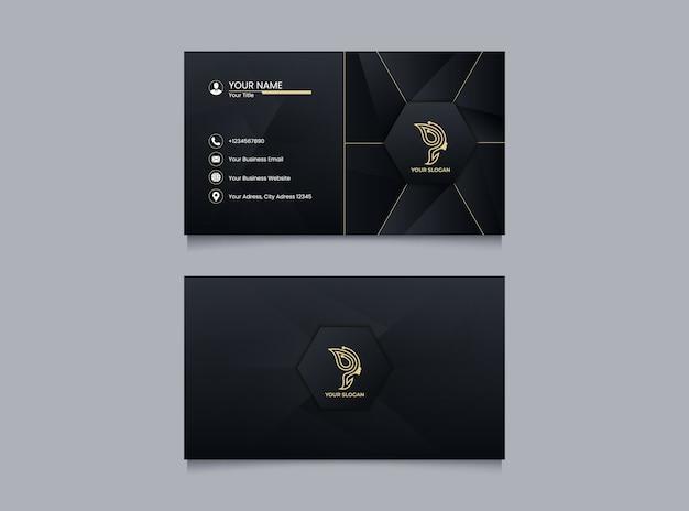 Sjabloon voor elegante visitekaartjes met gouden stijl