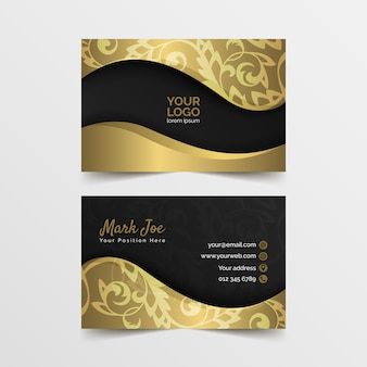 Sjabloon voor elegante visitekaartjes