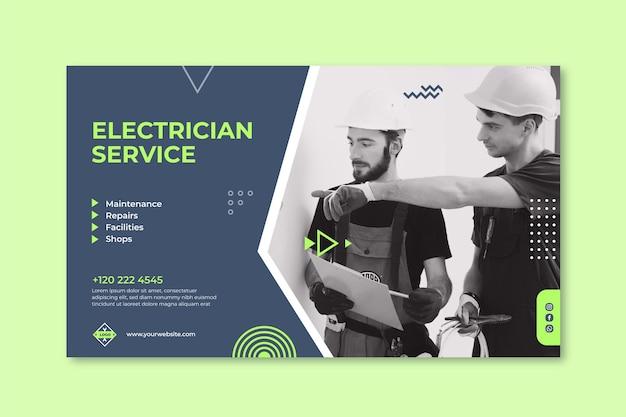 Sjabloon voor elektricien horizontale spandoek