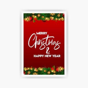 Sjabloon voor flyers van de vintage kerstfeest