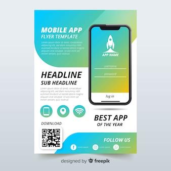 Sjabloon voor flyers voor mobiele app
